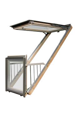 Takfönster balkong